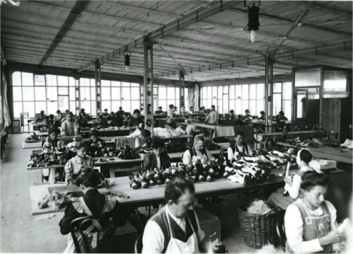 Steiff factory inside