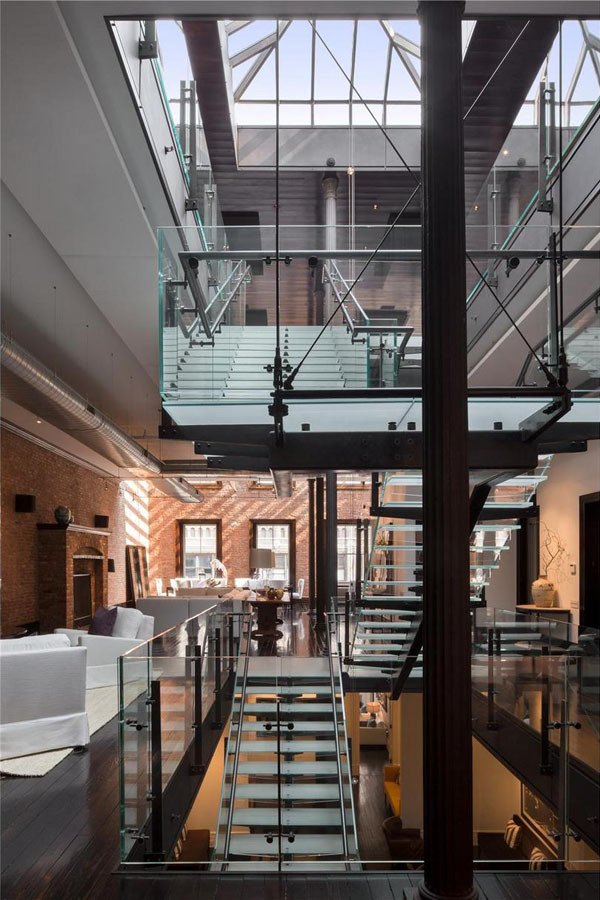 50m loft penthouse i love curiosity for Apartments in tribeca nyc