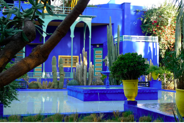 Blue majorelle i love curiosity for Jardin ysl marrakech